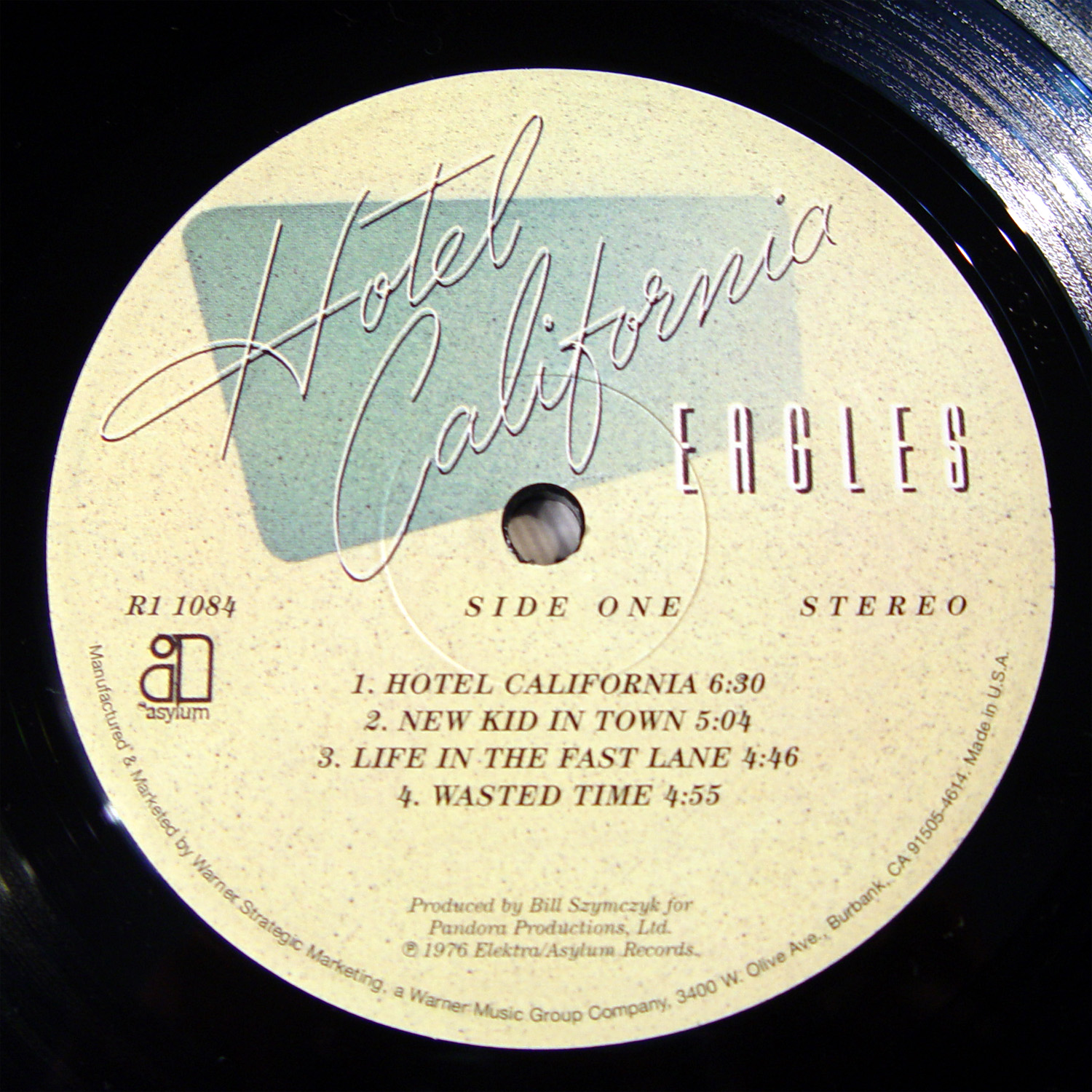 Eagles Hotel California label A