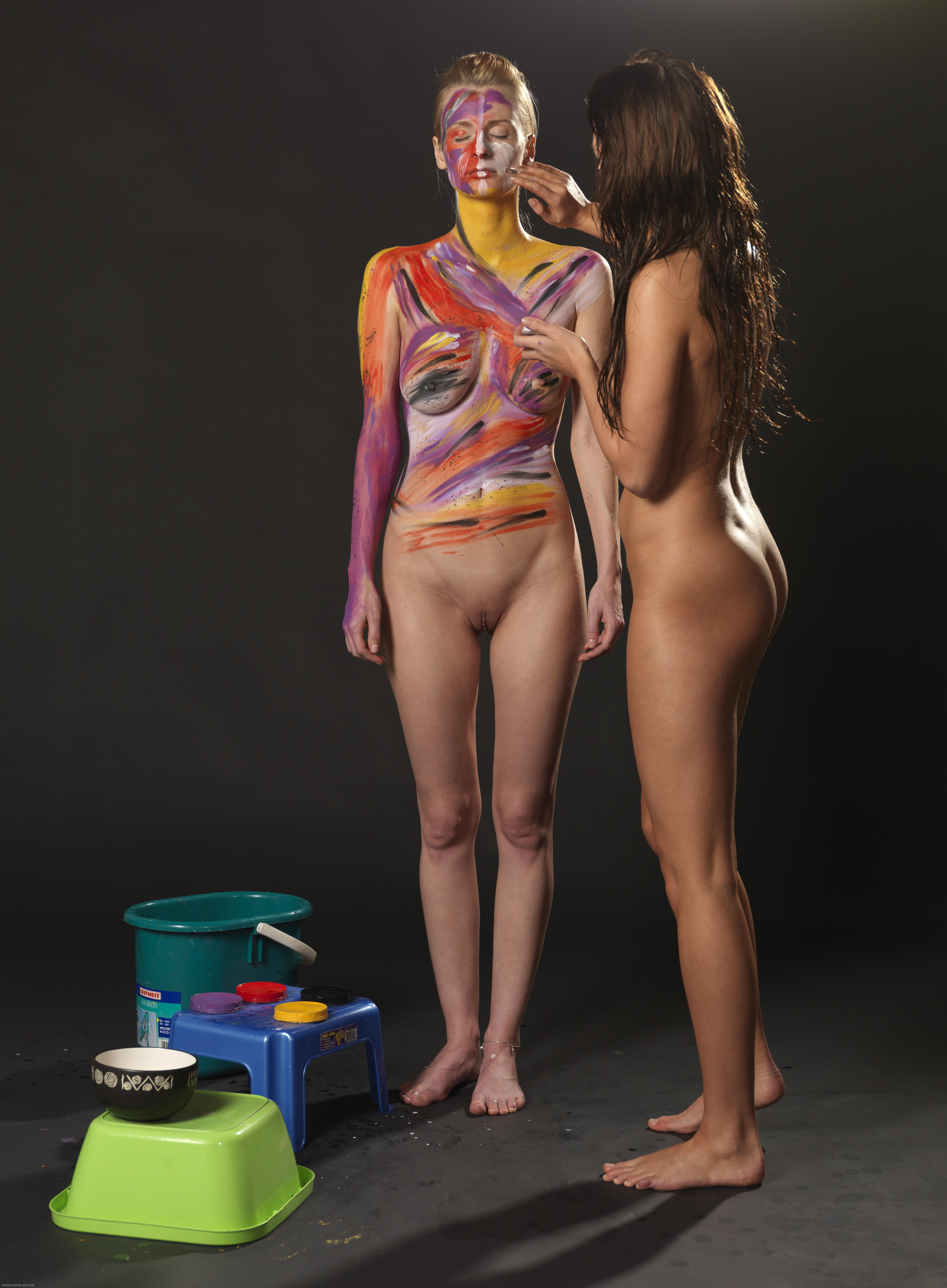 Body painting nude free download cartoon muscle lovers