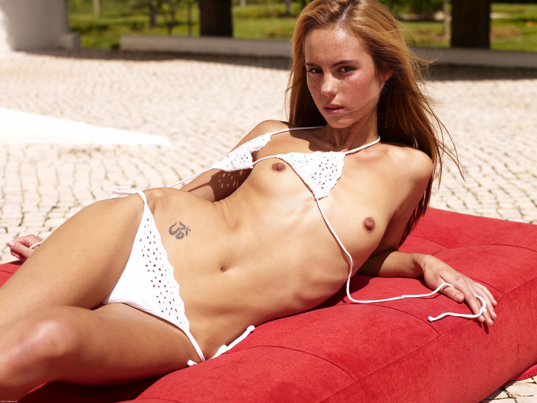 Thea White Bikini 50