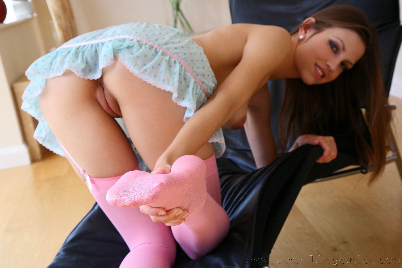 порно чулки носочки