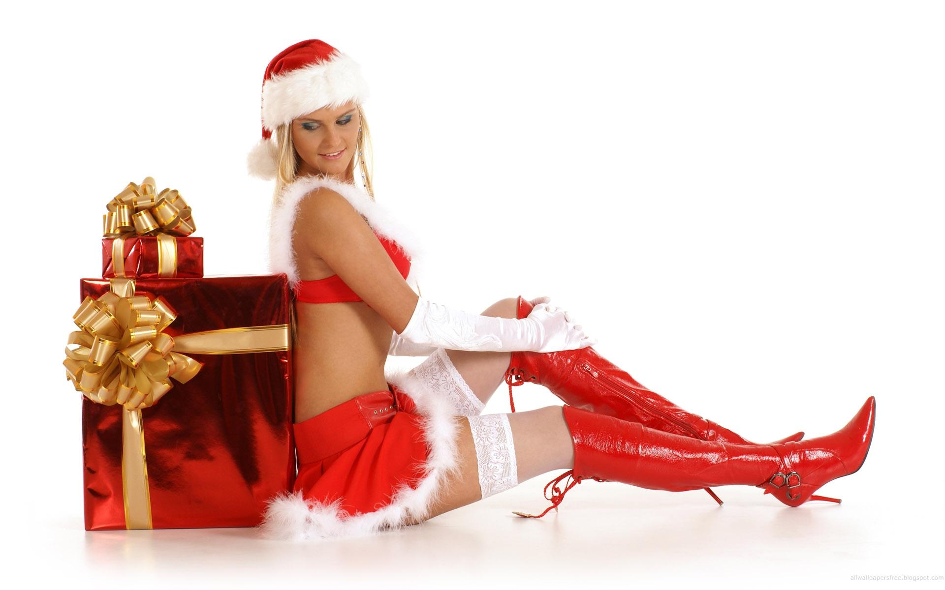 sexy christmas girls hd wallpaper 1 25