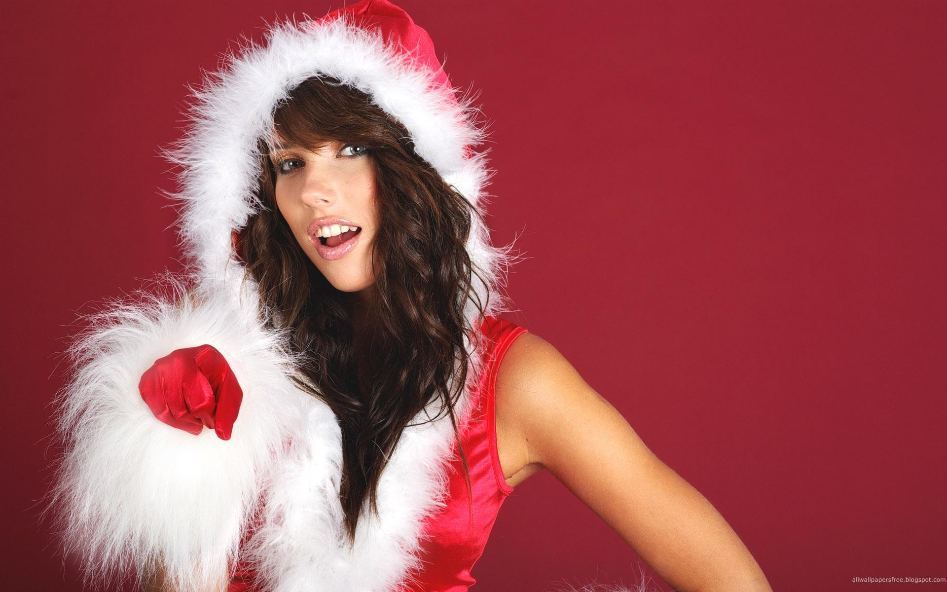 sexy christmas girls hd wallpaper 1 18