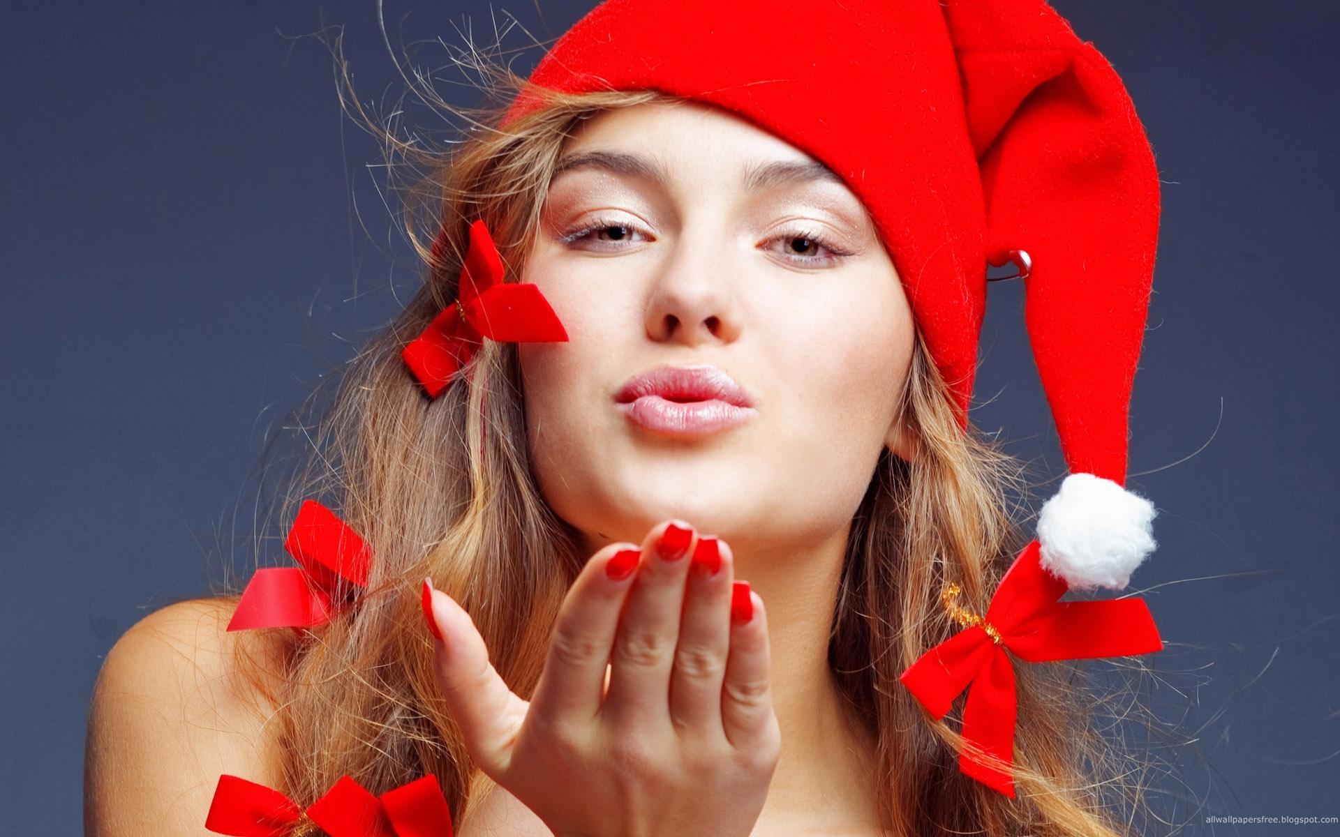 sexy christmas girls hd wallpaper 1 24