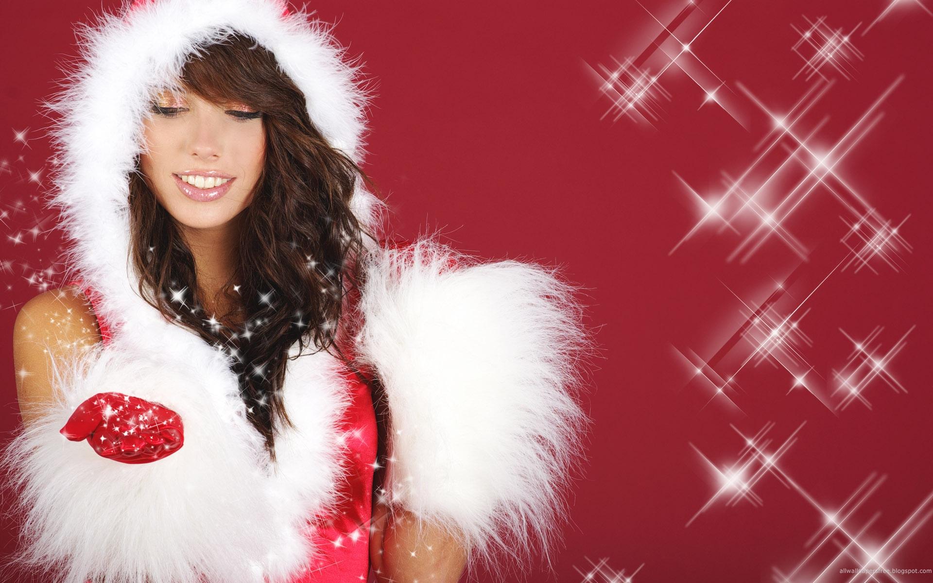 sexy christmas girls hd wallpaper 1 1