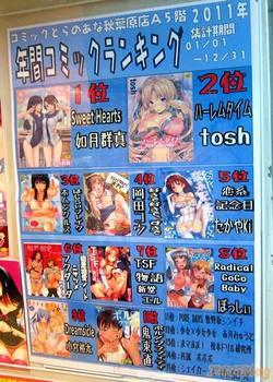 2011年 エロ漫画 年間ベストセラー(とらのあな秋葉原店A)