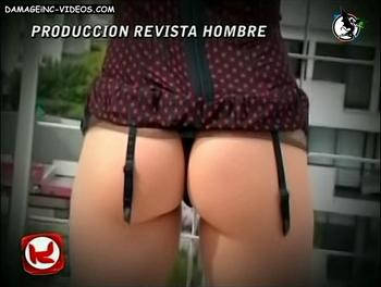 El culo de Mariquena Cornejo en tanga y portaligas para Hombre magazine