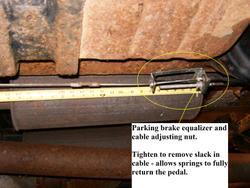 Parking Brake Release Spring Gm Square Body 1973