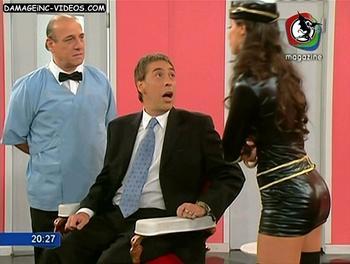Sabrina Ravelli latex miniskirt