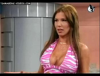 Showgirl Celina Rucci big chested cleavage